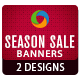 Season Sale Banners - 2 designs - GraphicRiver Item for Sale