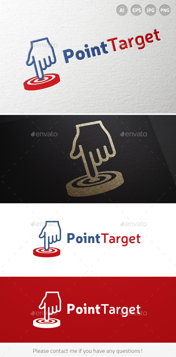 Point Target Hand Logo - Objects Logo Templates