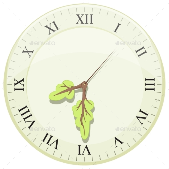 Clock Showing Earth Hour - Nature Conceptual