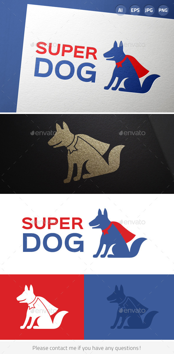 Super Dog - Animals Logo Templates