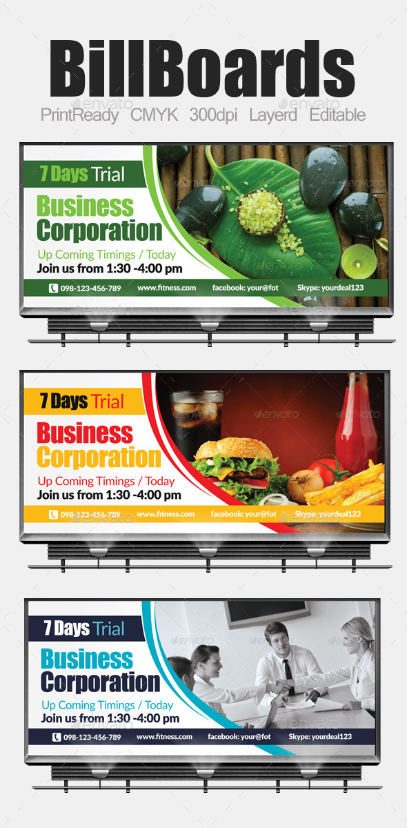 Multi Purpose Business Billboards - Signage Print Templates