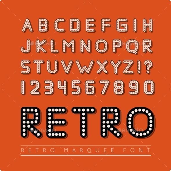 Retro Marquee Font - Christmas Seasons/Holidays