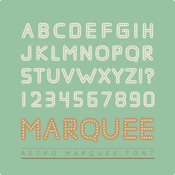Retro Marquee Font - Christmas Seasons/Holidays