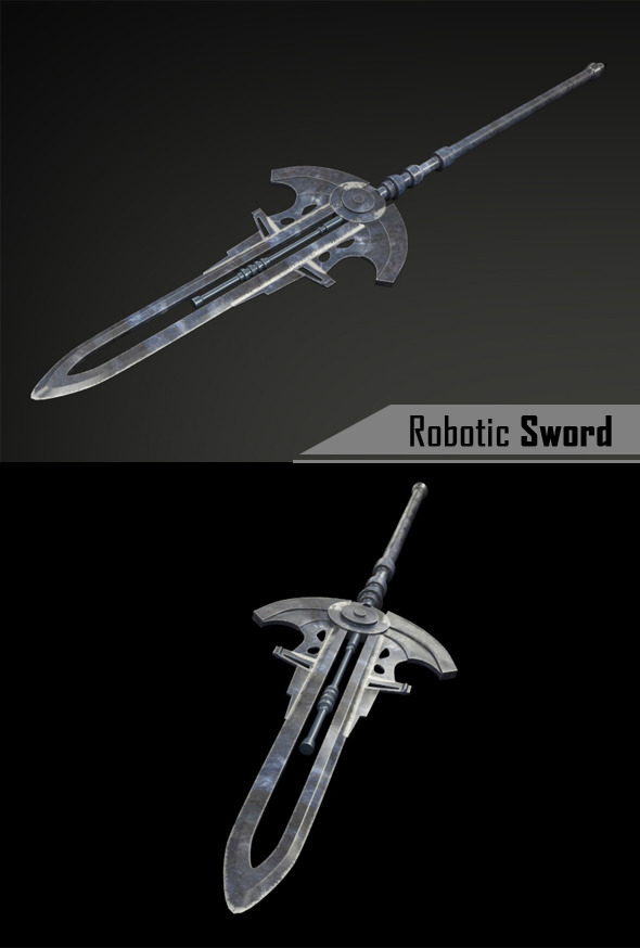 Robotic Sword - 3DOcean Item for Sale