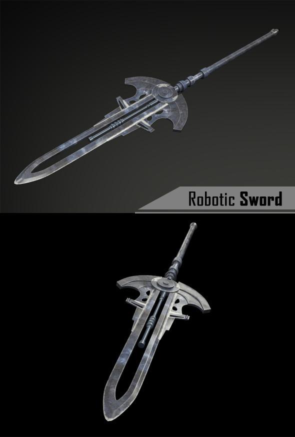 Robotic Sword - 3DOcean Item for Sale