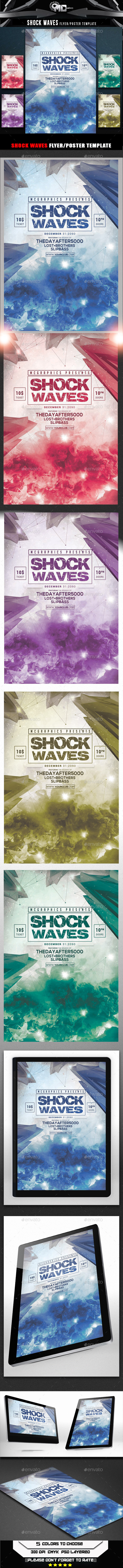 Shock Waves Flyer Template - Flyers Print Templates