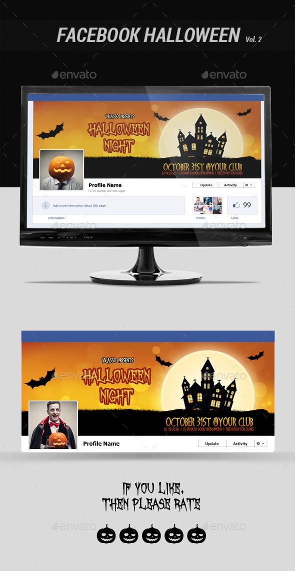 Facebook Halloween Vol. 2 - Facebook Timeline Covers Social Media