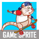 Skate Board Rat Sprite - GraphicRiver Item for Sale