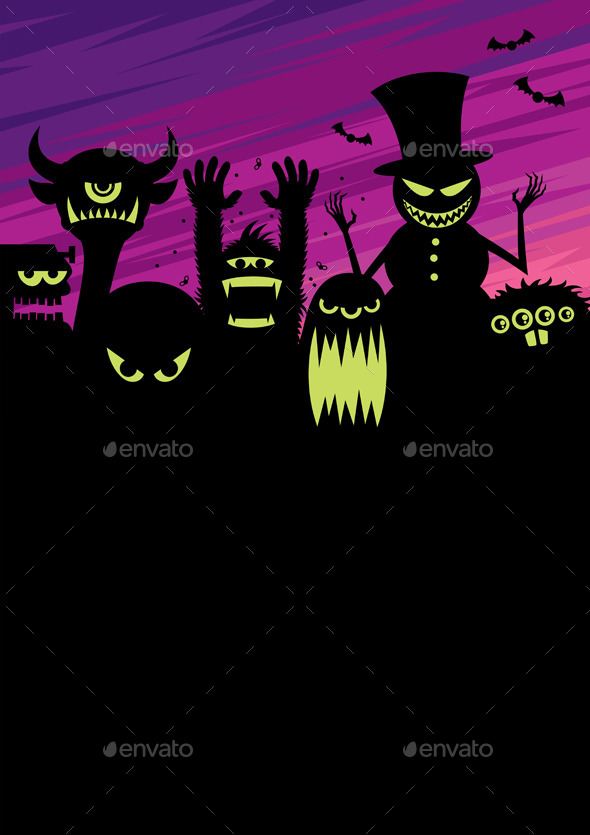 Monsters Background - Monsters Characters