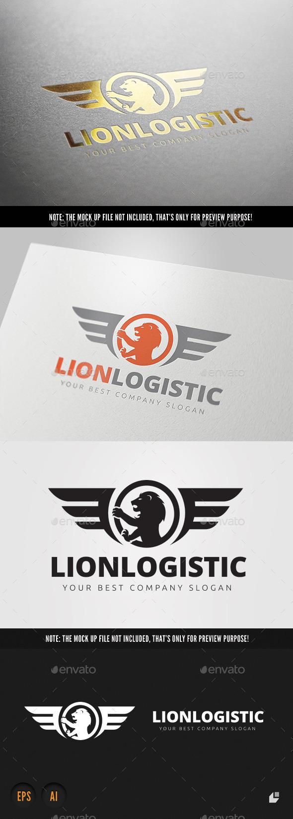 Lion Logistic  - Crests Logo Templates