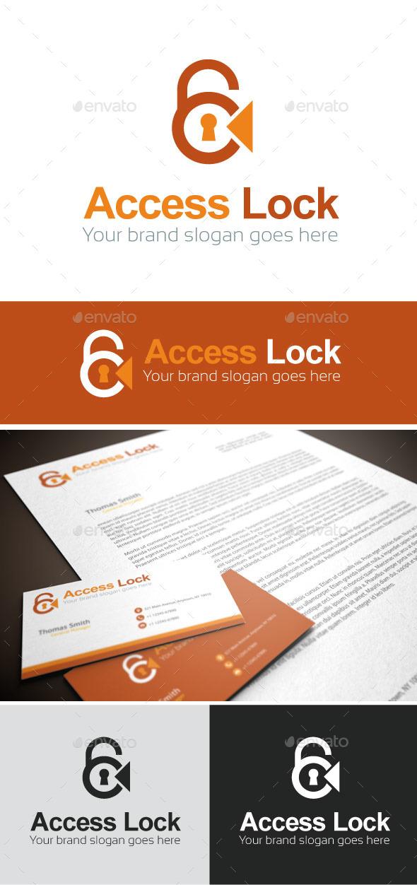 Access Lock Logo Template - Symbols Logo Templates