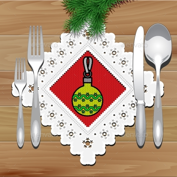 Christmas Napkin Table - Christmas Seasons/Holidays