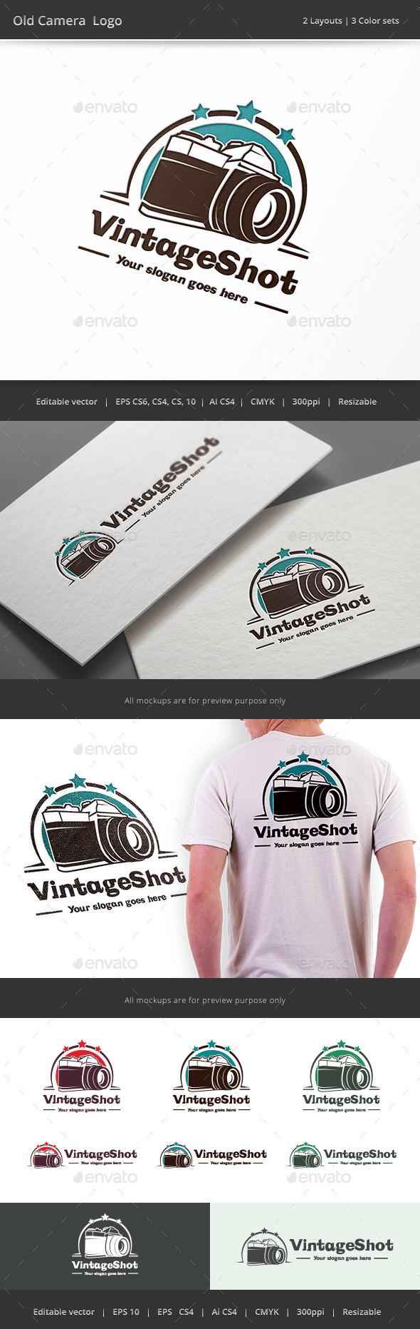 Old Camera Logo - Objects Logo Templates