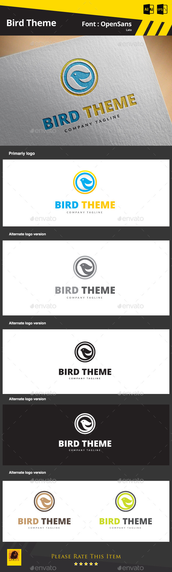 Bird Theme  - Animals Logo Templates