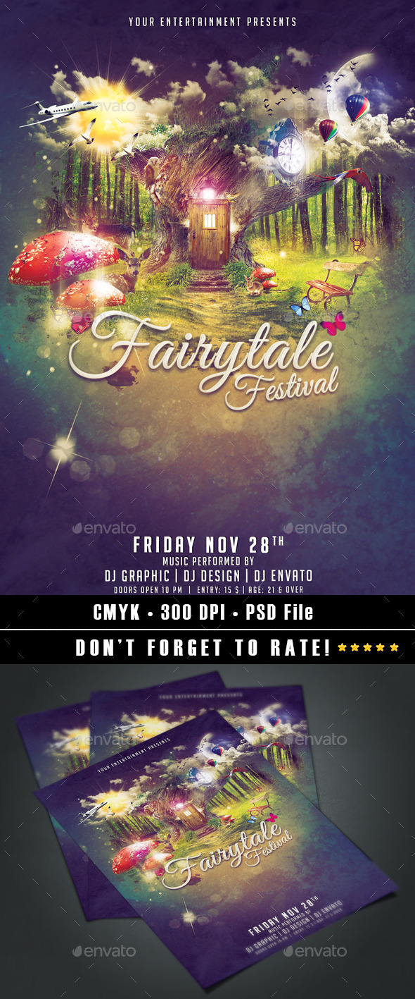 Fairytale Festival - Events Flyers