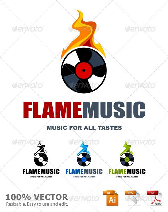 Musical logo template - Vector Abstract