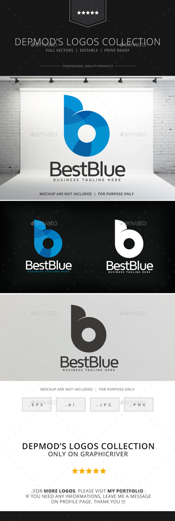 Best Blue Logo - Letters Logo Templates