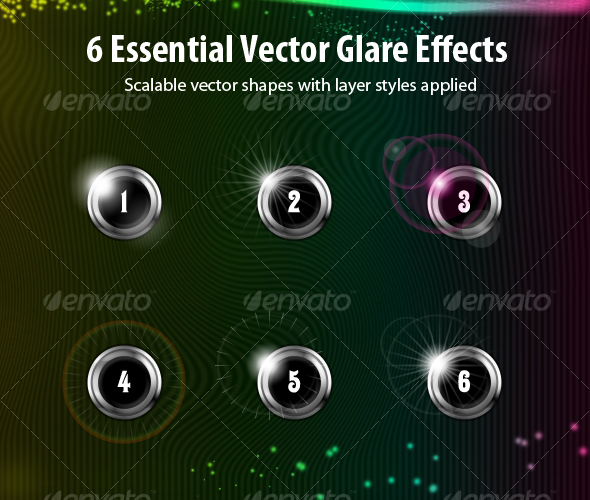 6 Vector Light Effects - Miscellaneous Graphics