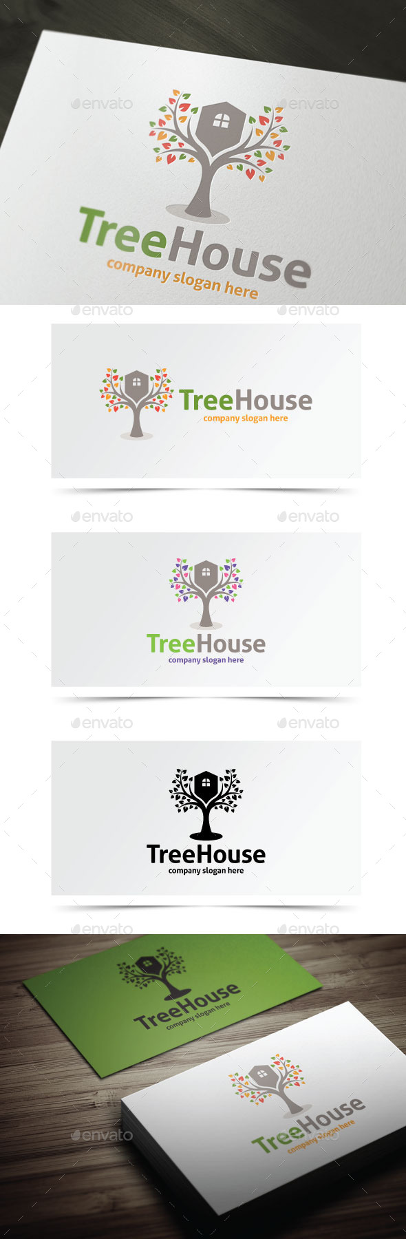 Tree House - Nature Logo Templates