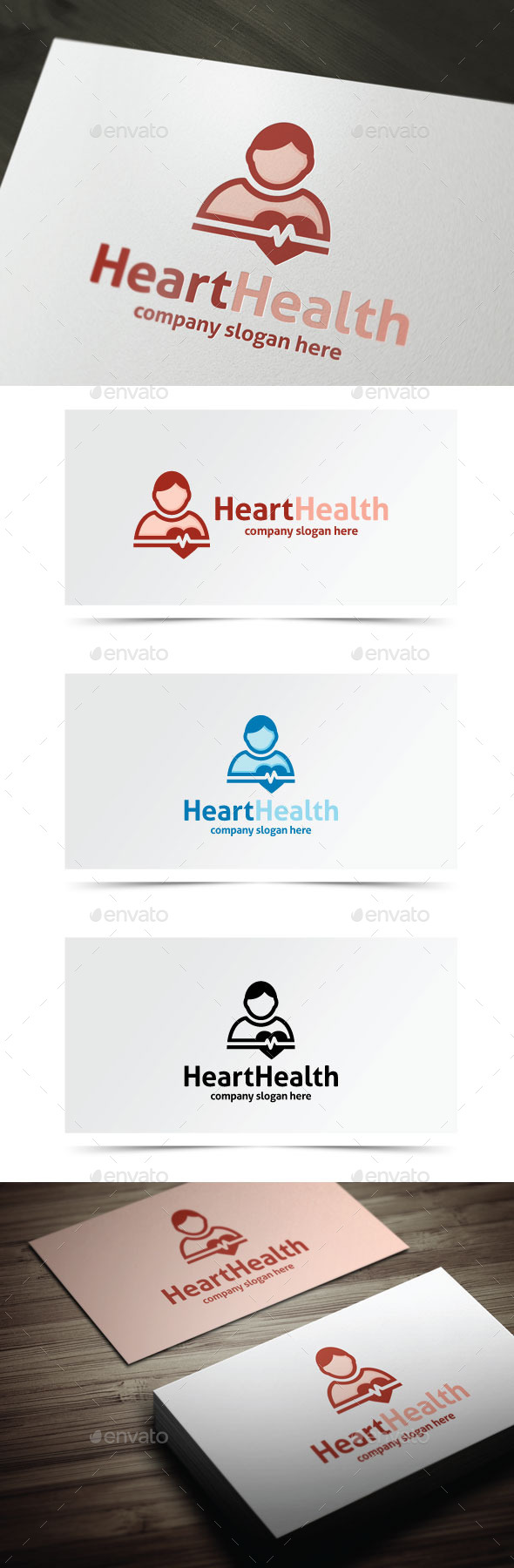 Heart Health - Humans Logo Templates