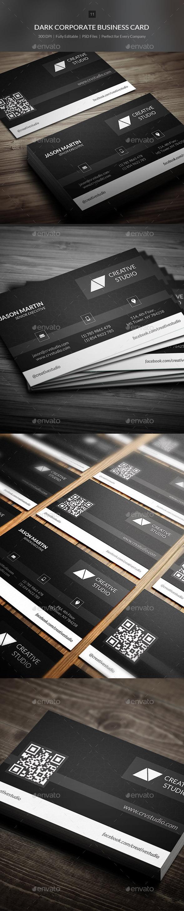 Dark Corporate Business Card - 11 - Corporate Business Cards
