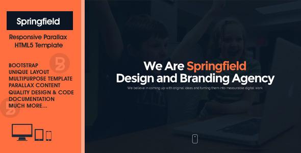 Springfield – Responsive HTML5 Parallax Theme