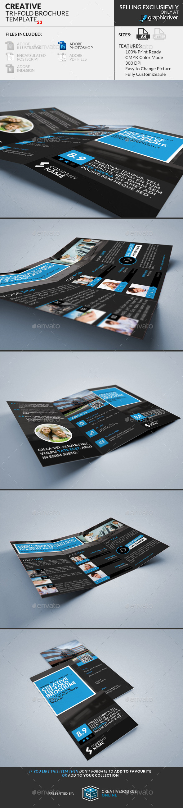 Trifold Brochure 23 : Creative - Corporate Brochures