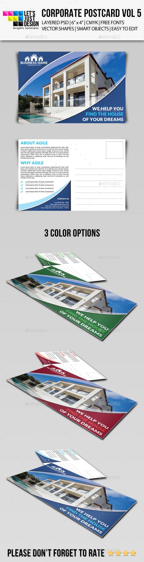 Corporate Postcard Template Vol 5 - Cards & Invites Print Templates