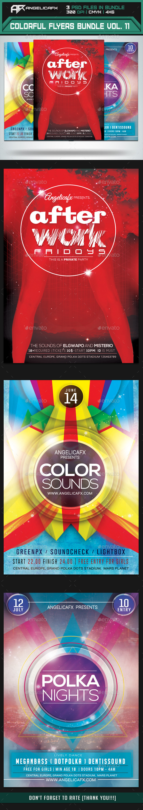 Colorful Flyers Bundle Vol. 11 - Flyers Print Templates
