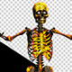 Skeleton In Fire Funny Street Dancing - VideoHive Item for Sale