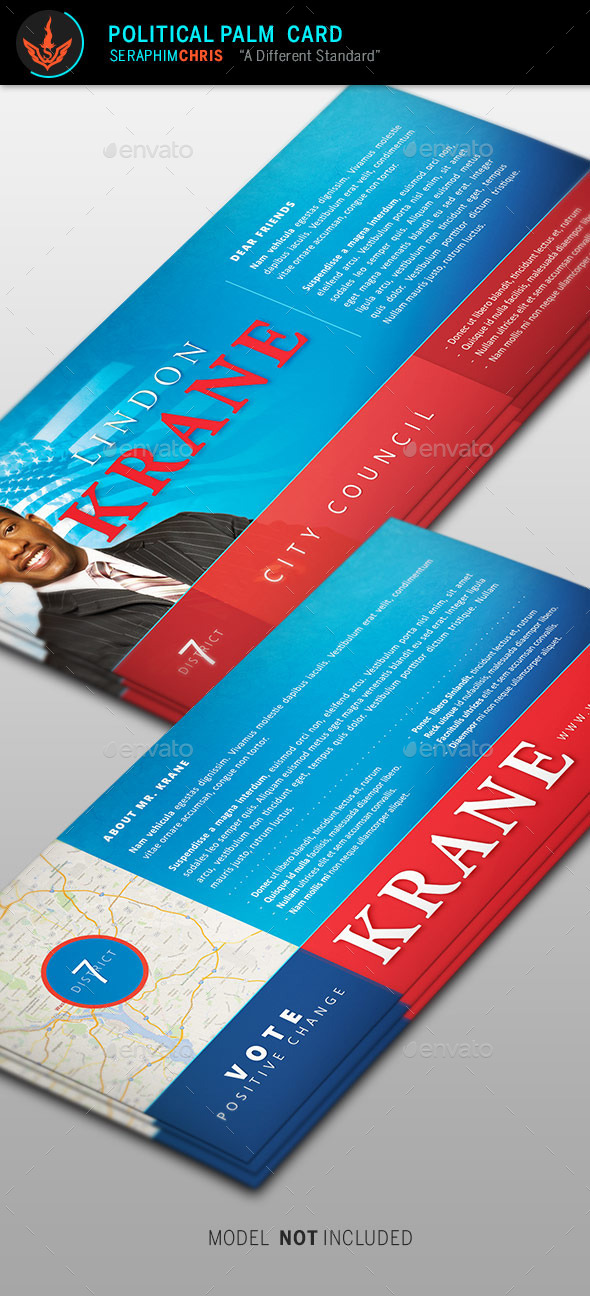 Political Palm Card Template By SeraphimChris GraphicRiver - Political palm card template