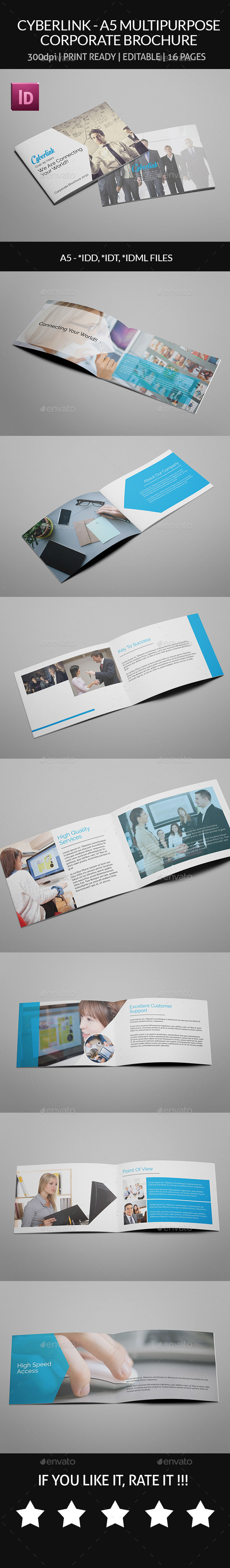 Cyberlink - A5 Multipurpose Corporate Brochure