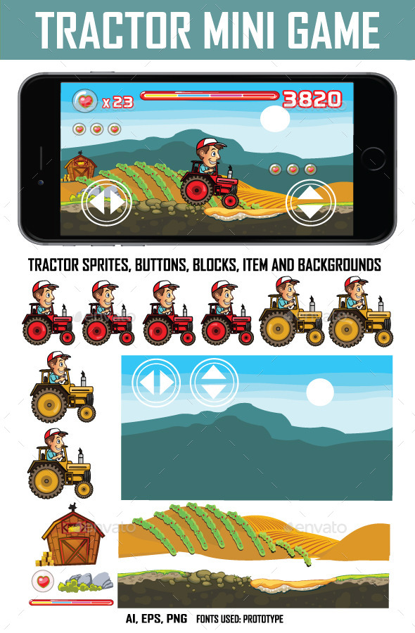 Tractor Mini Game Kit - Miscellaneous Game Assets