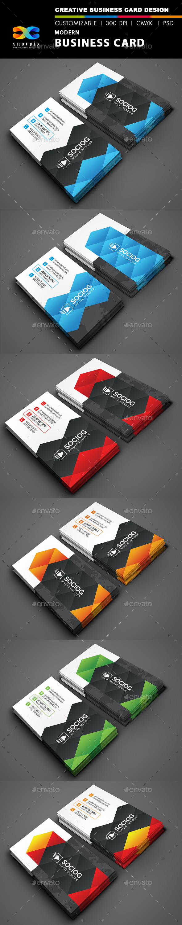 Modern business card by axnorpix graphicriver modern business card corporate business cards magicingreecefo Gallery