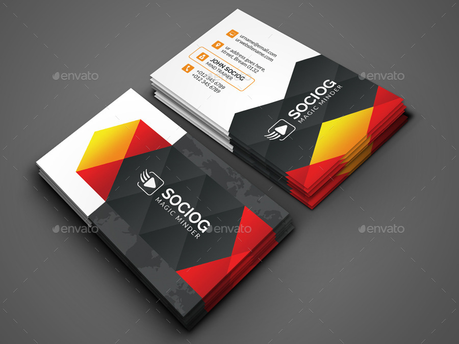 Modern business card by axnorpix graphicriver modern business card colourmoves