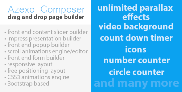 Azexo Composer Drupal page / block builder - CodeCanyon Item for Sale