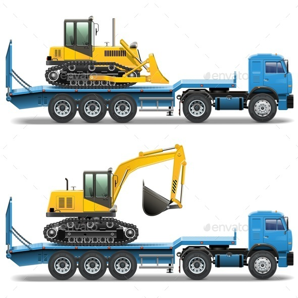 Trailer with Tractor - Industries Business