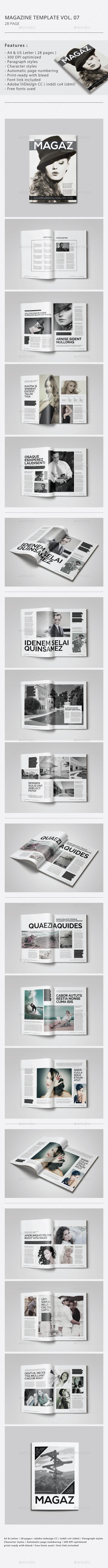 Indesign Magazine Template Vol.07 - Magazines Print Templates