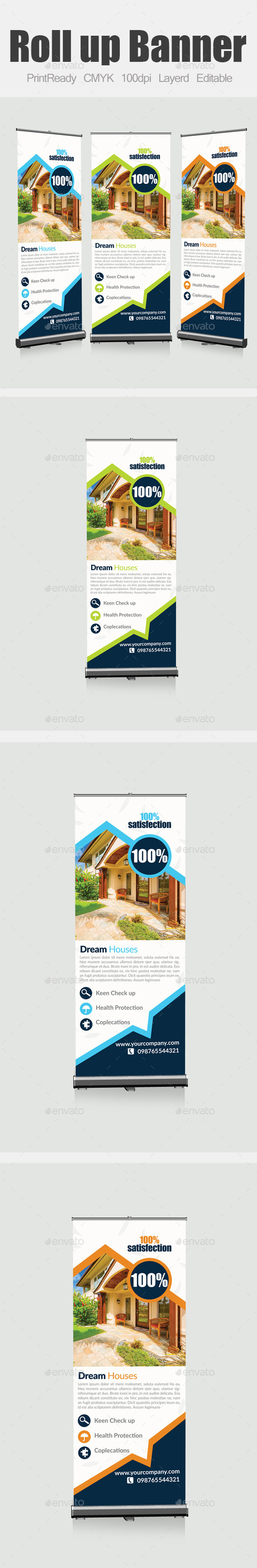 Real Estate Roll Up Banners - Signage Print Templates