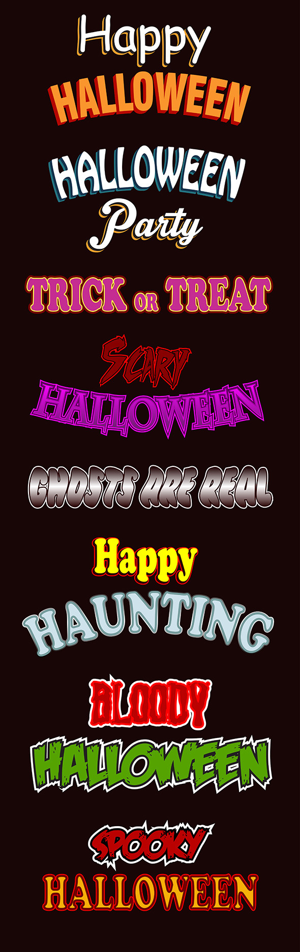 Halloween Text Styles - Styles Illustrator