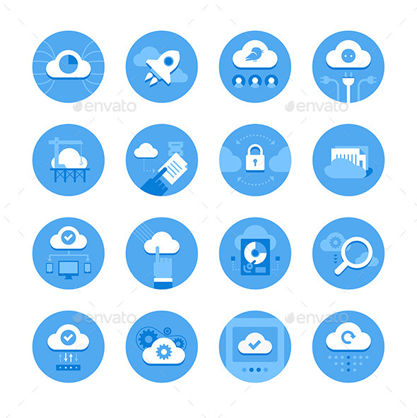Cloud Computing Icons - Technology Icons