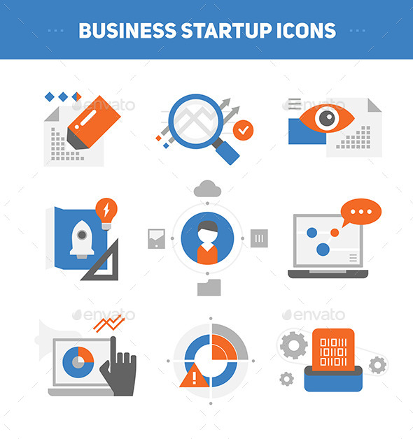 Startup Business Concepts - Business Icons