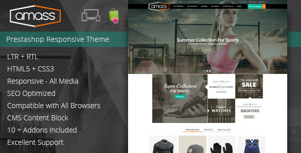 Amass – Prestashop Responsive Theme