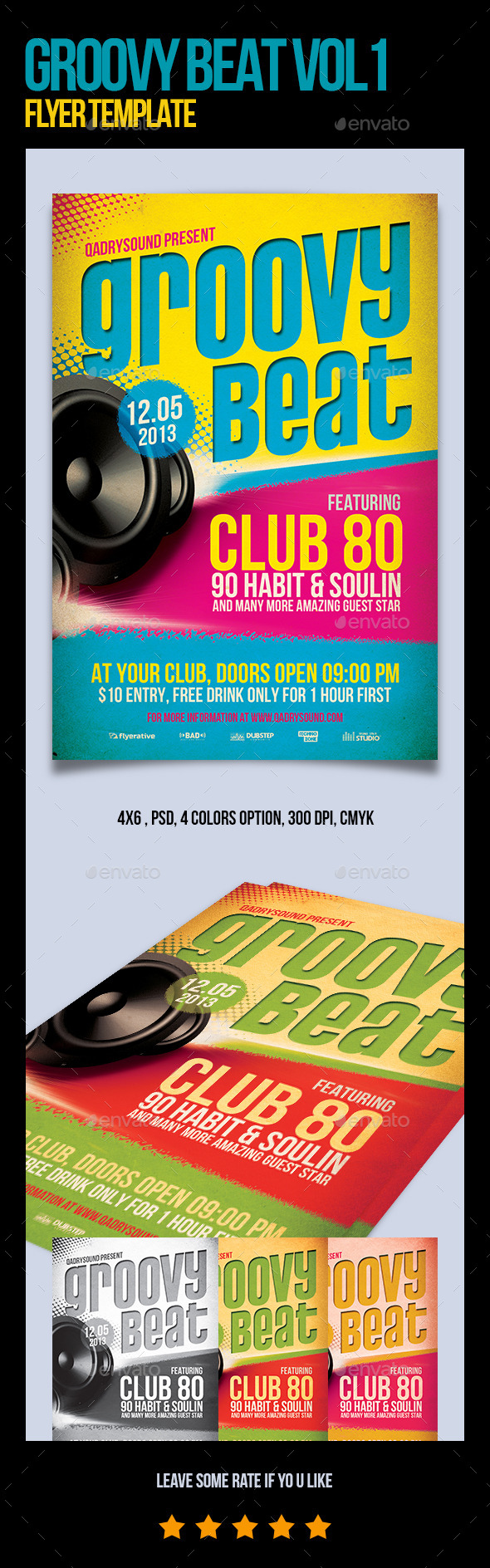 Groovy Flyer/Poster Template - Events Flyers