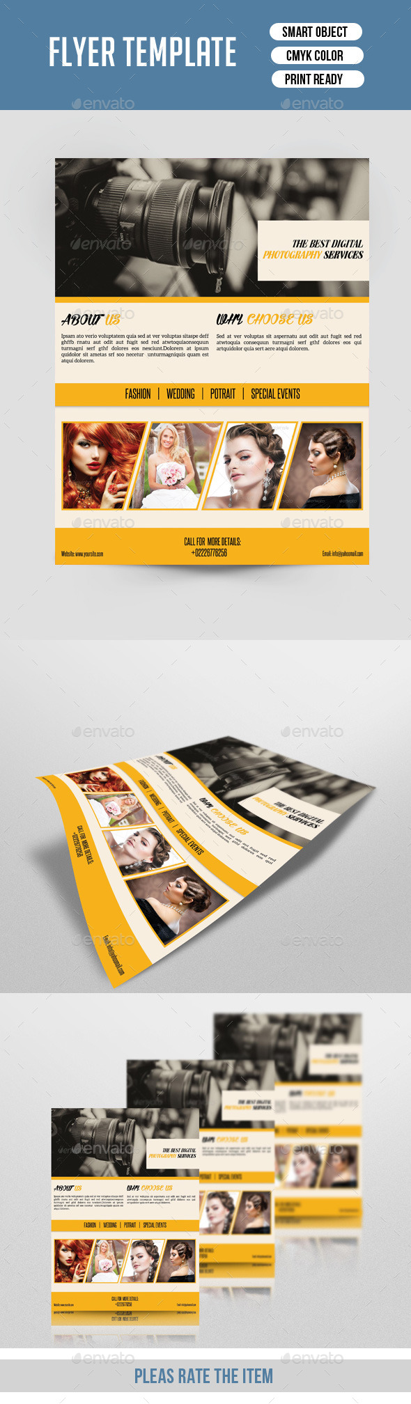 Retro Photography Flyer Template-V140 - Corporate Flyers
