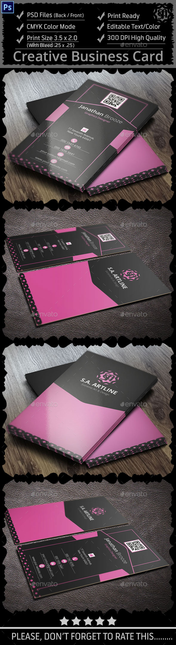 Cleat Creative Corporate Business Card - Creative Business Cards
