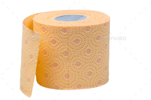 Toilet paper roll isolated - Stock Photo - Images