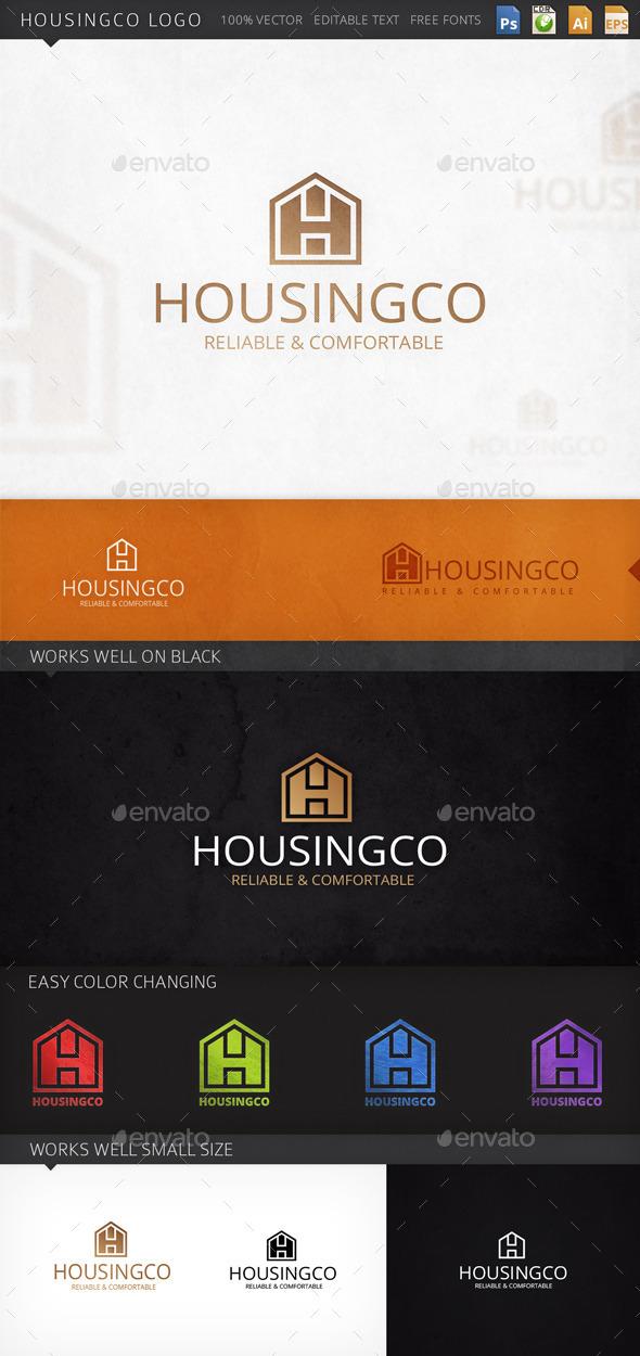 Housingco House Logo Template - Buildings Logo Templates