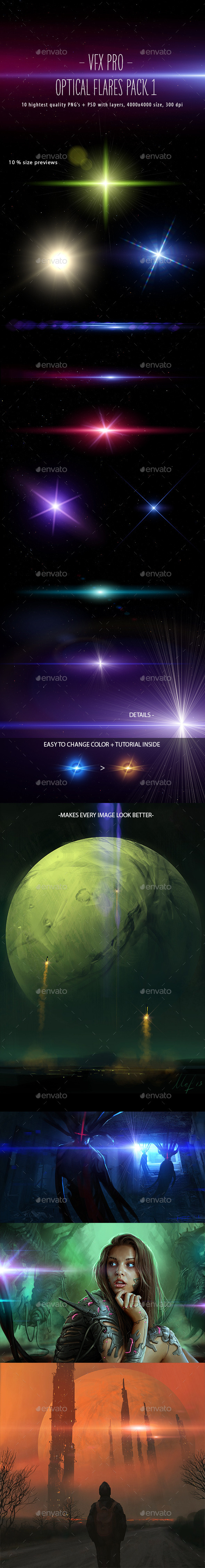 VFX PRO: Optical Flares Pack 1 - Miscellaneous Graphics