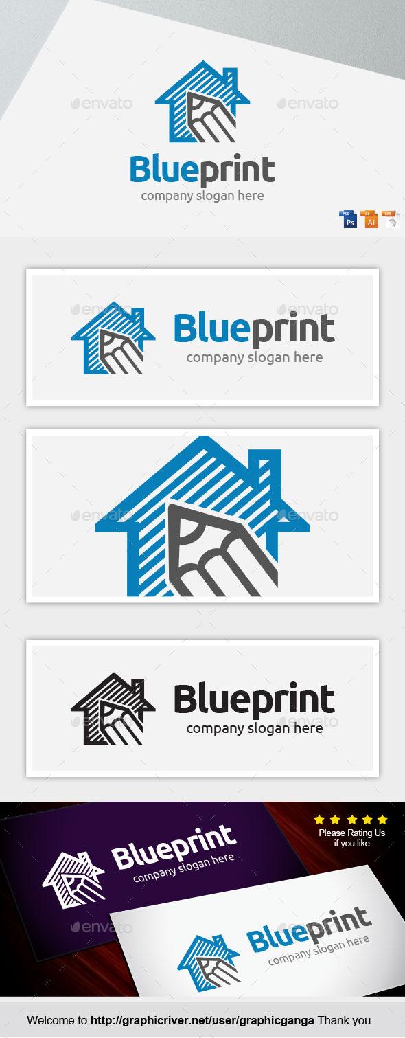 Blueprint - Buildings Logo Templates